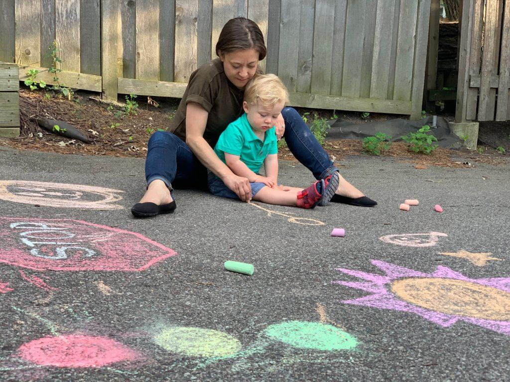 sidewalk chalk for toddlers